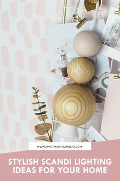 Check out my latest office update 😍 how gorgeous is this Scandi pendant light from . You can customise the balls yourself so of course I went with blush pink and ash wood. Plus, it's the perfect space savin Nordic Interior Design, Interior Design Tips, Home Office Storage, Home Office Design, Scandinavian Lighting, Scandinavian Style, Decorating On A Budget, Interior Decorating, Victoria Apartments