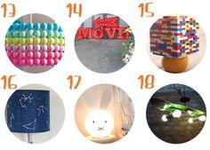 18 lámparas DIY para el cuarto de los niños #unamamanovata #niños #diy #lamparas ▲▲▲ www.unamamanovata.com ▲▲▲