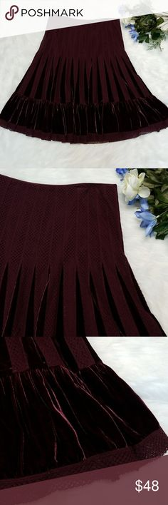 Free People Skirt Beautiful purple crocheted and velvet skirt by free people. Flowy and beautifully boho. Zippered side. Fully lined. Free People Skirts