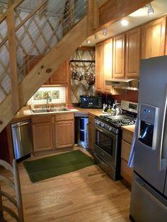 Fantastic small yurt kitchen