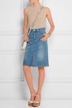 See by Chloé|Stonewashed denim skirt|NET-A-PORTER.COM