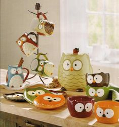 Owl Dishes and Kitchen stuff!---someone please get these for me ;-)