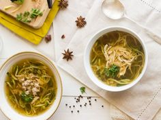 Chicken Noodle Soup With Zucchini Noodles | Healthy & Delcious Homemade Recipes Perfect For Brunch & Dinner, see more at http://homemaderecipes.com/healthy/11-vegetable-spiralizer-recipes