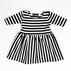 Mixed Stripe Dress Toddler Dress Baby Dress Girls by SkuttleBum