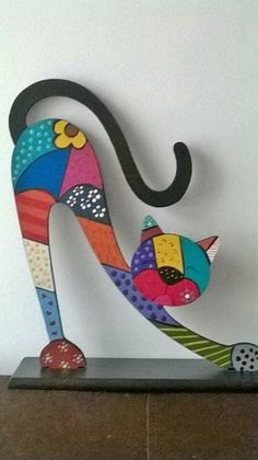 Drvene Dekoracije - Diy And Crafts 2019 - Diy Crafts Cat Crafts, Diy And Crafts, Arts And Crafts, Paper Crafts, Cat Quilt, Wooden Crafts, Cat Drawing, Mosaic Art, Wood Carving
