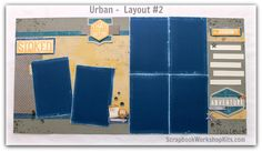 Scrapbooking Kits: Layout #2 of this BOY Scrapbook Kit featuring the URBAN…