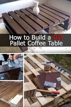 How to Build a DIY Pallet Coffee Table