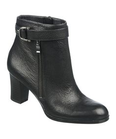 Take a look at this Black Leather Lucille Boot on zulily today!