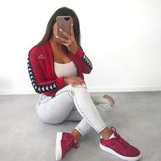 Sport Outfits, Trendy Outfits, Girl Outfits, Cute Outfits, Fashion Outfits, Womens Fashion, Kappa Clothing, Reebok, Winter Outfits