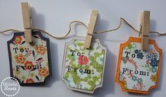 BLISSFUL ROOTS: DIY Gift Tags {Perfect Project For Scrapbook Paper Scraps!}