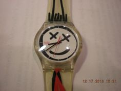 Swatch Watch Women/Men Unisex Face/Tie Black/Red Winter Vintage Free Shipping #swatch #watch #sales