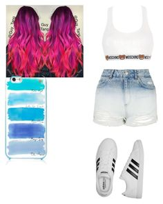 """""""Untitled #140"""" by elesedunn on Polyvore featuring Topshop, Moschino, adidas and Kate Spade"""