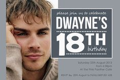 18th birthday invitations for boys - Google Search