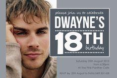18th Birthday Invitations For Boys