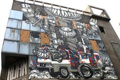 """Tentacle Monster"" by ""Darbotz"" and ""Tutu"" was created for Open Spaces, a street-art-meets-web-art online art gallery. From Khabar Southeast Asia article, ""Urban artists put serious fun on the wall"" #StreetArt #Jakarta #Indonesia More info: http://ht.ly/gGvcP"