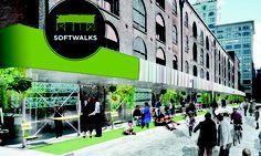 'Softwalks' เปลี่ยนนั่งร้านในนิวยอร์กให้เป็นพื้นที่สาธารณะประโยชน์