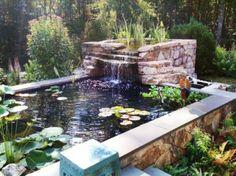 un-étang-jardinage cascade-originale-de-pierre