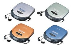 discman.  I saw someone using one of these on the bus last week.  I about cheered with glee.