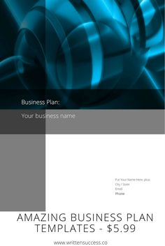 Business Plan Templates  Built By A Business Plan Writer