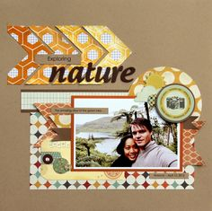 LOVE those ombre arrows, and the whole layout! By Piradee Talvanna