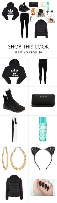 """This is trinity outfit"" by blueberry2215baby ❤ liked on Polyvore featuring beauty, adidas, Boohoo, Puma, Michael Kors, Samsung, Styli-Style, Fragments, Cara and Calvin Klein"