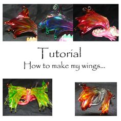 How to make WINGS PDF tutorial by ElementalDragons on Etsy
