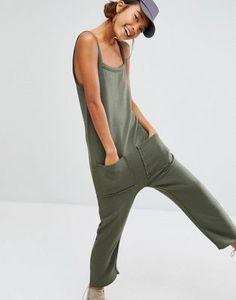 Sweatwater Women Pocket Basic Breathable Drawstring Cross V Neck Linen Playsuit Jumpsuits