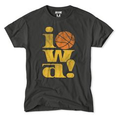 iowa Hawkeyes Vintage Basketball T-Shirt.