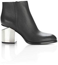 Alexander Wang GABI BOOTIE WITH SILVER METAL HEEL BOOTS #women #shoes #womensfashion #sandle #womenhell #womensliper #newarrivals #footfetishnation #longshoes