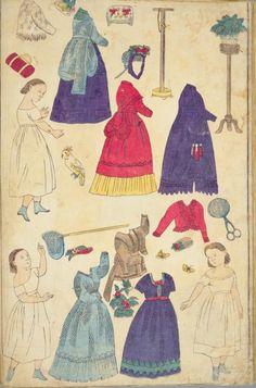 文部省発行教育錦絵 おもちゃ絵 西洋人形着せ替え 絵師不明 1873年頃