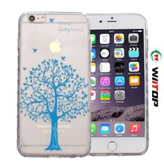 i6 Plus Cover,iPhone 6S Plus Case,WIITOP Ultra Thin Clear Art Pattern Crystal Gel TPU Rubber Flexible Slim Skin Soft Case for Apple iPhone 6s Plus 5.5Inch (Blue Tree) >>> Click image to review more details.