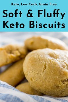 At first doing keto I thought I'd never have bread again, but these keto biscuits saved the day! Soft and fluffy straight out of the oven these will be a new stable for your low carb breakfast. Easy Keto Bread Recipe, Best Keto Bread, Low Carb Bread, Bread Diet, Recipe List, Paleo Bread, Yeast Bread, Low Carb Soup Recipes, Low Sugar Recipes