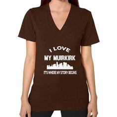 I LOVE MY MUIRKIRK V-Neck (on woman)