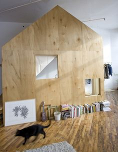 Inside Treehouse & Cabin Turn Brooklyn Loft Into Two-Bedroom Space
