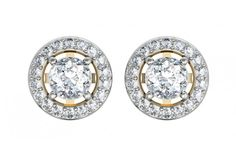 Buy Alluring #Diamond Solitaire Cluster #Earring......at #Jewelslaneshop!!