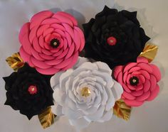 Kate Spade Inspired Giant Paper Flowers-Set of 5 by LuxyFlowers