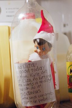 Elf message in a bottle