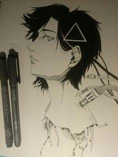 Ghost in the Shell fanart by ramonkrysteck. Anime, manga, ghostintheshell, artwork, fineliner, monochrome, fanart