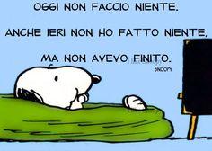 Vignette - Snoopy - Oggi non faccio niente