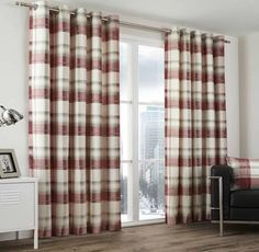 Awesome Red and Black Plaid Curtains