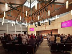 Midland Bible Church - Campus Relocation - Worship Facilities Magazine Choir Room, Light Project, Worship, Bible, Magazine, Lighting, Interior, Design, Biblia