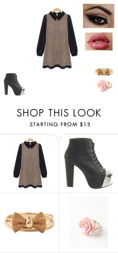 """""""dress outfit"""" by anahitapia on Polyvore featuring Jeffrey Campbell, American Apparel and Lori's Shoes"""