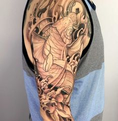 Koi Fish Tattoo, Fish Tattoos, Japanese Style, Shark, Instagram, Carp, Coy Tattoo, Japan Style, Japanese Taste