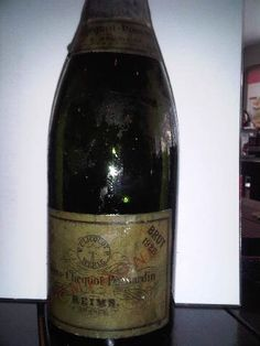 The champagne the Schloss family drink in Spain which turns up 30 years later as a gift to Odelle (actually it's the '26 vintage but here's a bottle of the '28 for reference)