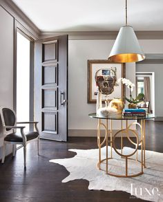 Artful Lodgers - A Serene and Sophisticated New Home  decorated by Ashley Goforth darker trim/lighter walls