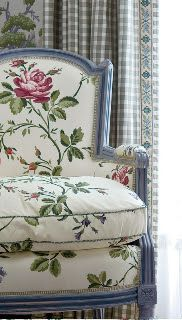 Chair Fabric: Le Manach by Clairmont Fabrics Curtain fabric: Brunschwig and Fils…