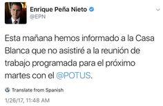 """""""Peña-Trump"""" es tendencia porque el presidente Enrique Peña Nieto canceló la reunión con Donald Trump. http://qoo.ly/dgaqj"""
