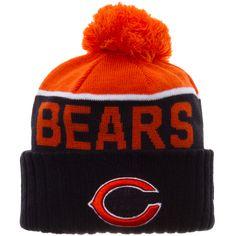 newest 81de4 736f7 Chicago Bears 2015 Orange and Navy Sideline Knit Pom Hat