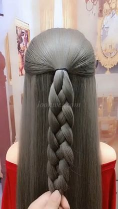 Easy Hairstyles For Long Hair, Braids For Long Hair, Braided Hairstyles, Braids Easy, Amazing Hairstyles, Wedding Hairstyles, Hair Up Styles, Medium Hair Styles, Long Hair Video