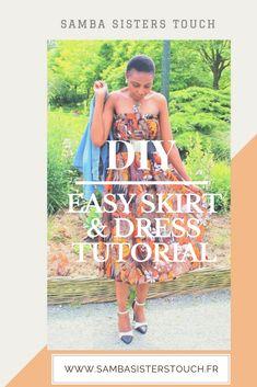 sew a maxi skirt Samba, Vader Star Wars, Dress Tutorials, Simple Dresses, African Fashion, Dress Skirt, Easy Diy, Strapless Dress, Celebs